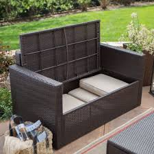 c coast berea outdoor wicker storage loveseat with cushions for stunning deck love seat your house