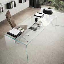 large glass office desk. Air Glass Desk By Gallotti \u0026 Radice. Offered A Uniquely Luxurious For Working Large Office