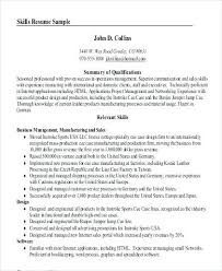 Summary On A Resume Example – Resume Sample Web