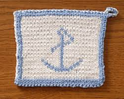 Anchor Double Knitted Potholder Pattern By Elaine Prior