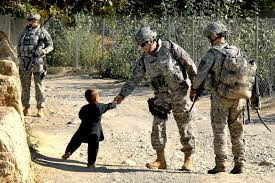us army shake hand with little boy wallpaper