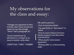ap essay reflection usually this comes the day you get the my observations for the class and essay we need to practice how