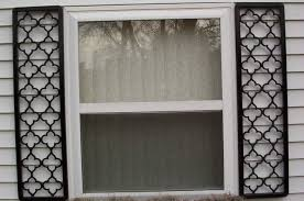 Wrought Iron Exterior Shutters  Ethicsofbigdatainfo - Faux window shutters exterior
