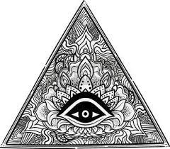 Fototapeta Boží Oko Zednářský Symbol Vševidoucí Oko V Trojúhelníku Pyramidy