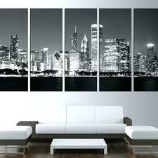 chicago wall decor skyline wall decals wall art print on canvas skyline wall art large canvas