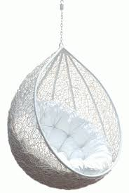 Hanging Chair Rattan Egg White Half Teardrop Wicker Hanging Chair Having  White Puff Comfy Outdoor Hanging Chair Design Ideas Furniture Hanging Chair  In ...