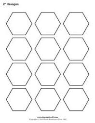 3 inch hexagon pattern. Use the printable outline for crafts ... & A printable hexagon template sheet. Adamdwight.com
