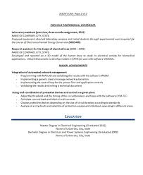 Electrical Engineering Sample Resumes Electrical Engineer Resume Example