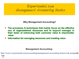 management accounting basics assignments