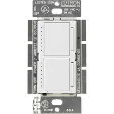 Lutron Diva Watt SinglePole Preset Electronic LowVoltage - Bathroom dimmer light switch