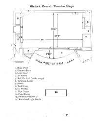 Historic Everett Theater Seating Chart Stage Information