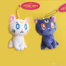 2019 ems sailor moon cat luna 10cm plush doll stuffed pendant best gift soft toy from uubees 3 52 dhgate com
