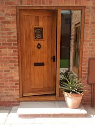 full image for beautiful oak external front door 144 wooden exterior doors with glass bespoke doors