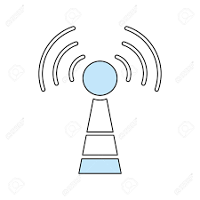 Wifi antenna symbol icon vector illustration graphic design royalty