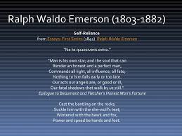 "ralph waldo emerson ""the american spirit""  3 ralph waldo emerson 1803 1882 self reliance from essays"