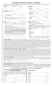Free Wisconsin Standard Residential Lease Agreement Template Pdf