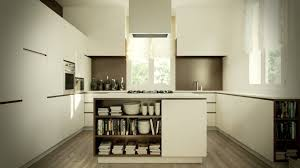 Elegant Modern Kitchen Island Design With Bookcase