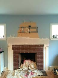 how to install a mantel on drywall fireplace makeover 8 stacked stone fireplac