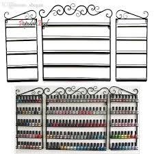 Wrought Iron Art Display Stands New Wholesale 32 Layers Hanging Wrought Iron Art Nail Polish Wall Rack