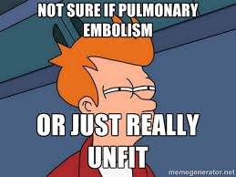 Not sure if Pulmonary Embolism Or just really unfit - Futurama Fry ... via Relatably.com