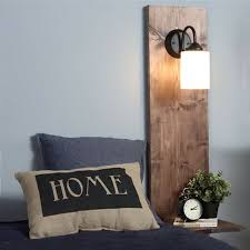 bedside lighting wall mounted. pop into your local builders warehouse for laminated pine to make this wall mounted bedside light lighting