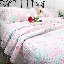paris comforter set full size home textile cotton kids pink theme comforter set girls quilt set