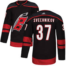 Adidas Men's Andrei Svechnikov - Hurricanes Jersey Carolina Authentic Alternate Shop Black