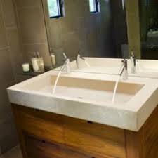 Sinks, Trough Bathroom Sink With Two Faucets Trough Style Bathroom Sinks  Vintage Basins Granit Gold