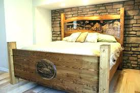Rustic King Size Bed Rustic King Bed Frame Ze Pine Sleigh Super ...