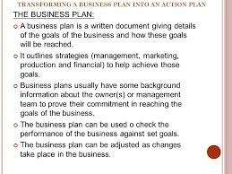 business studies grade ppt video online  transforming a business plan into an action plan