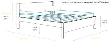 Bed Frame Dimensions Stunet Co