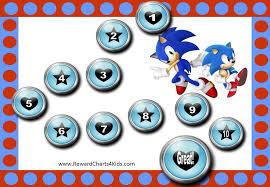 Sonic Behavior Chart 12 Step Behavior Chart With Sonic 15