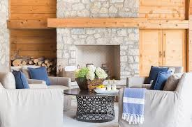 alyssa rosenheck light light gray stone rustic fireplace