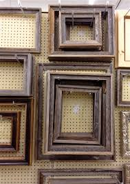 image of reclaimed barnwood picture frames