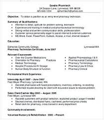 Pharmacy Aide Sample Resume