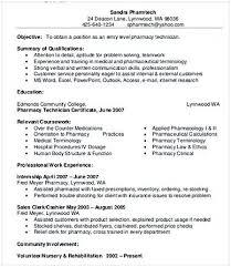 Pharmacy Aide Sample Resume