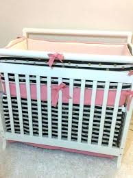 mini crib bedding for girl mini crib bedding baby girl mini crib bedding c pink black