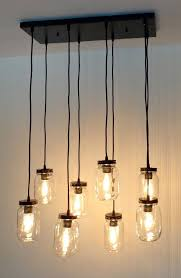 mason jar lighting fixture. mason jar 8light pendant chandelier new quart clear lighting fixture t