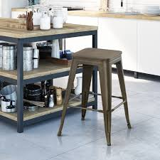 Furniture Of America Carson Metal Industrial Style Square Bar Stool Set Of 2