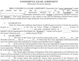 Standard Commercial Lease Form Rental Agreement Commercial Space ...