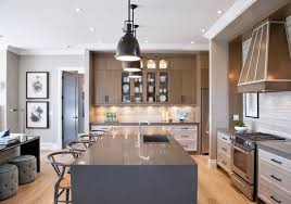 gray and beige in the kitchen