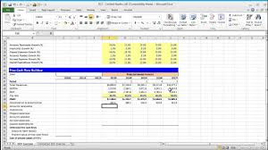 Cash Flow Model Excel Financial Modeling Quick Lesson Building A Discounted Cash Flow Dcf Model Part 1