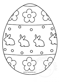 Easter Templates Easter Egg Colouring Page Easter Template