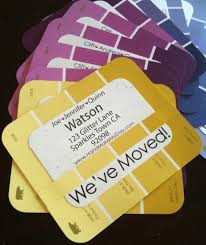 Paint Chip Housewarming Party Invitations.