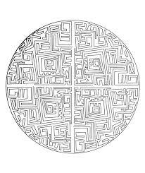 Free Mandala To Color Maze Coloring