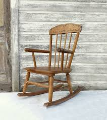 vintage wooden child s rocking chair 1940 s by momsantiquesnthings