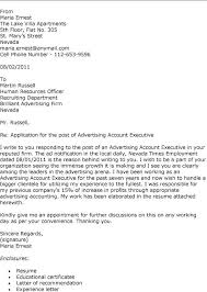 Best Solutions Of Advertising Cover Letter Advertising Agency