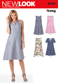 Summer Dress Patterns Delectable 48 New Look Pattern Ladies Loose Fitting Dress With Bodice And