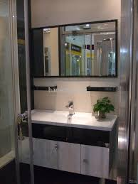 steel bathroom vanity. 2018 Ocean Shipping New Modern 304 Stainless Steel Bathroom Vanity Cloakroom Cabinet Including Mirror Faucet 1000x450mm Dm146 From Hansen_peng,