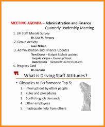 sample agenda sample agenda on meeting for drivers staff hr template cooperative